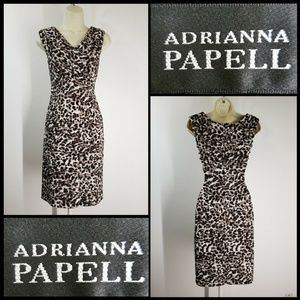 Adrianna Papell Women Tiered Layer Dress Size 6